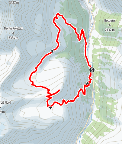 Kaart / Mont Chandelly (2809m)