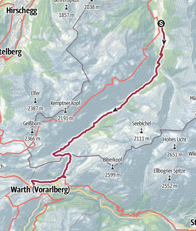 Map / Birgsau - Schofenpass - Warth