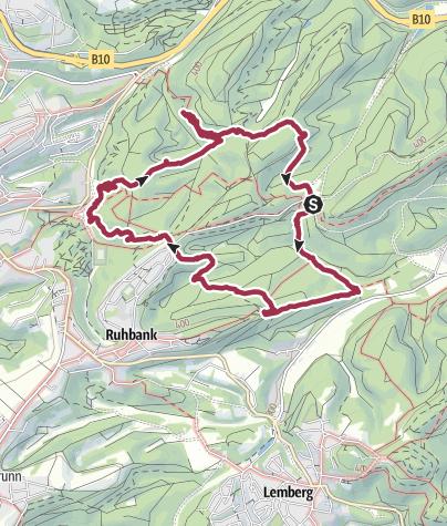 Karte / Kanzelfelsen, Geisenfelsen, Mordloch, Eisweiher, Gebetsbuch, Felsentor,  .05.06.18