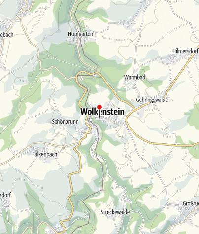 Karte / Wolkenstein und Kurort Warmbad