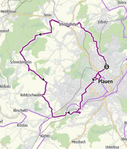 Karte / Zur Plauener Alm über Naturschutzgebiet