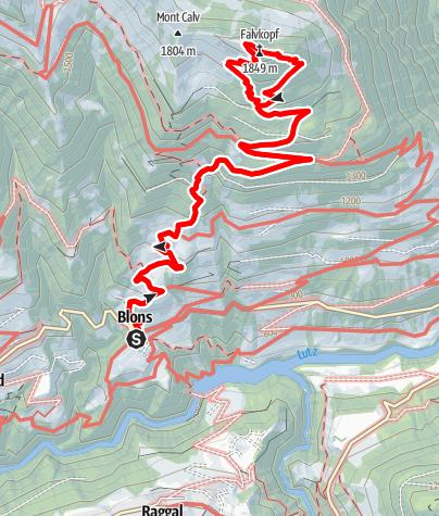 Karte / Falvkopf | Blons