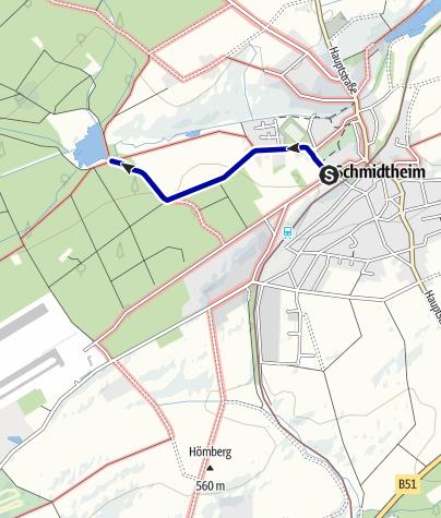 Karte / Schätze der Eifel: Das Quellgebiet der Urft