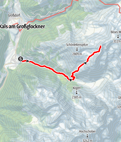 Kaart / Tschadinhorn (3.017 m)