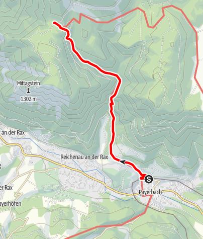 Mapa / Naturfreundehaus Knofeleben über Payerbach-Reichenau