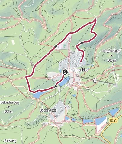 Karte / Angenehmer Heilklima-Wanderweg um Hahnenklee