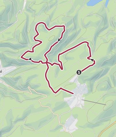 Karte / Schwieriger Heilklima-Wanderweg um Hahnenklee