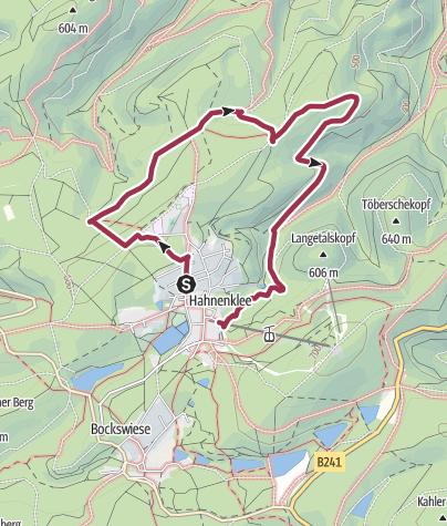 Karte / Rundwanderweg Hexenbank um Hahnenklee