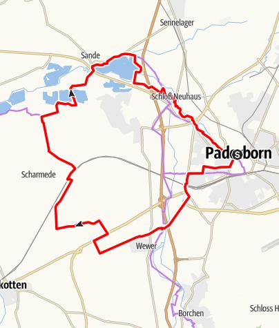 Karte / PB 4: Paderborner Westschleife