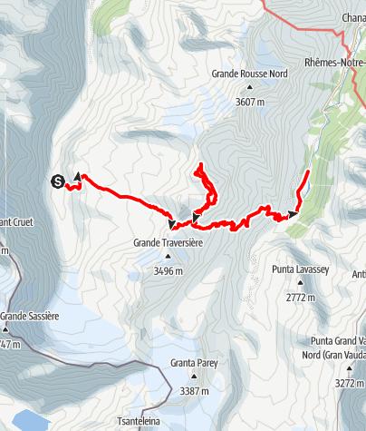 Kaart / Rif Bezzi - Col Bassac - Truc Blanc - Thumel