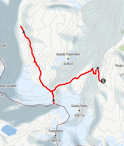 Kaart / Rif De Fond - Basac Dere- Becca La Traversière - Bezzi