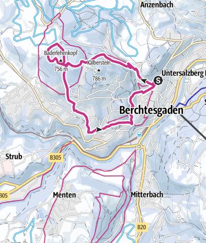 Karte / Von Berchtesgaden zur Kälbersteinsprungschanze