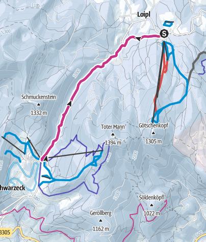 Karte / Von der Götschenalm zum Hochschwarzeck