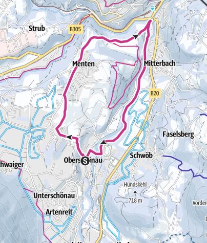 Karte / Rundtour durch Schönau am Königssee