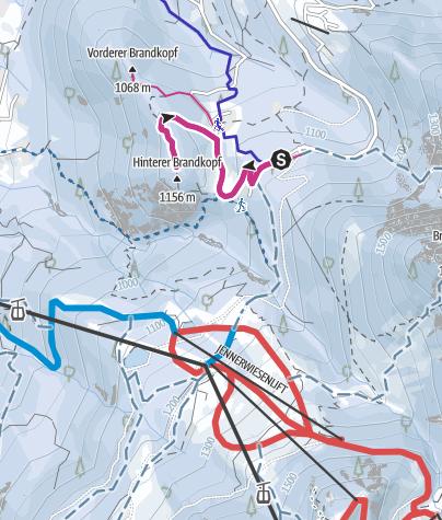 Karte / Winterwanderung zum Brandkopf