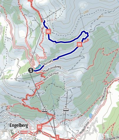 Kaart / Wanderung zum Härzlisee