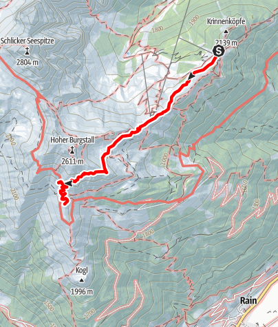 Mapa / Bergstation Schlick 2000 - Starkenburger Hütte
