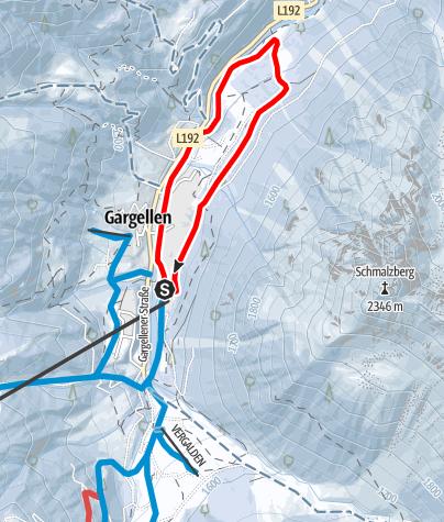 Karte / Gargellen Forstweg Schmalzberg