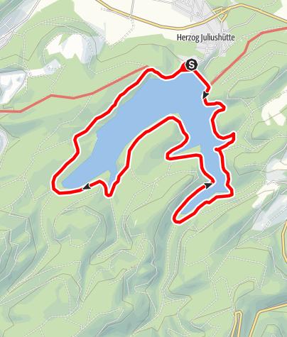 Karte / Rundwanderweg Granetalsperre
