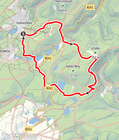 Karte / Wanderweg Oberer Schalker Graben