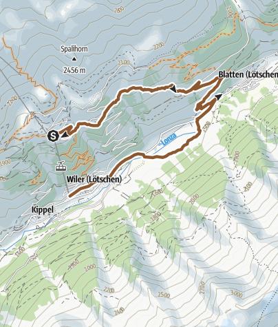 Karte / Breithorn Trail