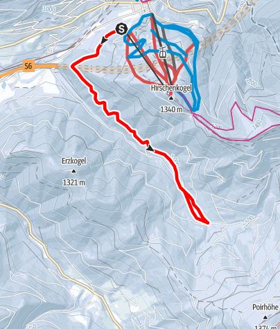 Karte / Semmering Johannesloipe