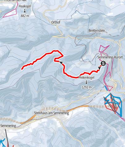 Karte / Liechtenstein- Panoramaloipe