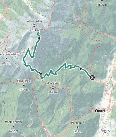 Mappa / Monte Cadria