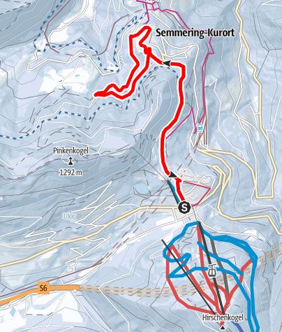 Mapa / Semmering - Raxblickrunde