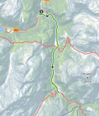 Karte / 757.01 Alte Averserstrasse Etappe 1