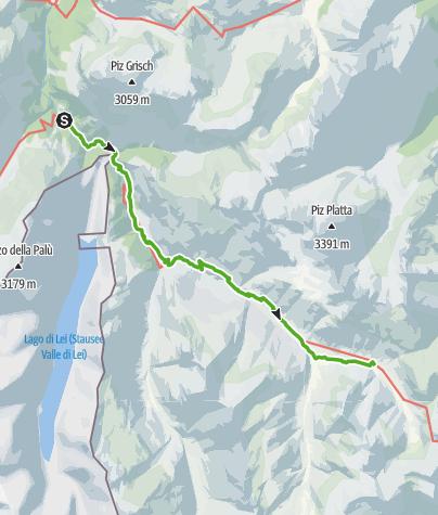 Karte / 757.02 Alte Averserstrasse Etappe 2