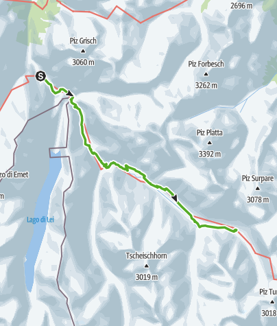 Cartina / 757.02 Alte Averserstrasse Etappe 2