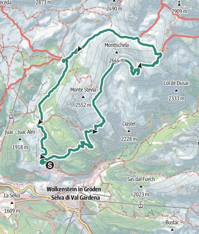 Cartina / Rifugio Stevia, Col dala Pieres e Rifugio Firenze