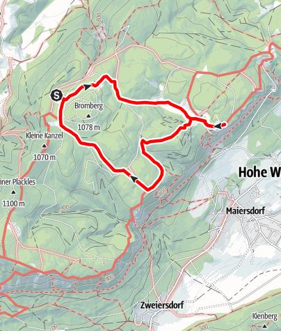 Karte / Rundwanderung durch den Naturpark Hohe Wand