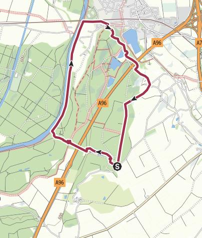 Karte / Entlang der Iller und Buxheimer Weiher