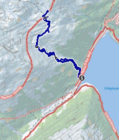 Kaart / Schlegeisstausee zur Olpererhütte