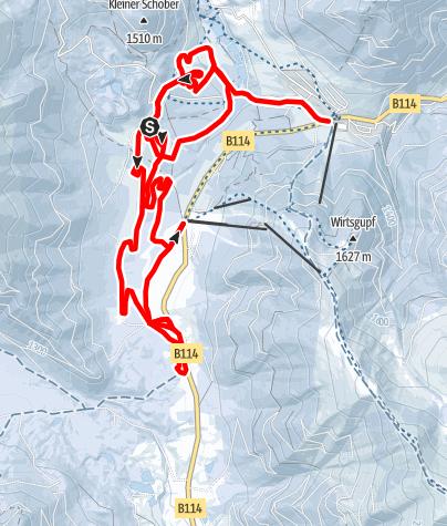 Karte / Schilanglauf Hohentauern
