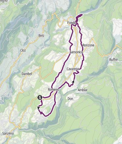 Cartina / Pista ciclabile dell'Alta Val di Non e Lago Smeraldo