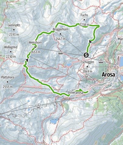 Kaart / 766 Arosa Weisshorn