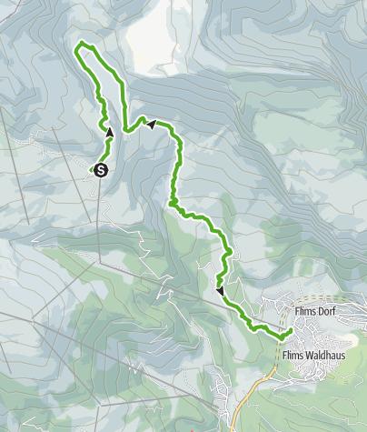 Map / 764 Trutg dil Flem, Flimser Watertrail
