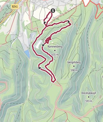 Karte / Mit Cora zum Rammseck