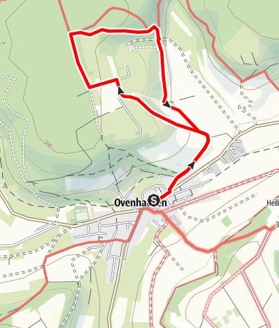 Karte / Ovenhausen Wanderweg I B      (6 km)