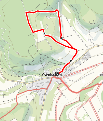 Kaart / Ovenhausen Wanderweg I B      (6 km)