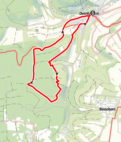 Kaart / Ovenhausen Wanderweg IV      (9 km)