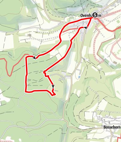 Karte / Ovenhausen Wanderweg IV A      (7,6 km)