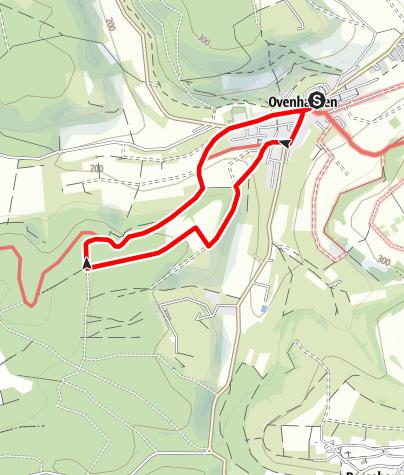 Kaart / Ovenhausen Wanderweg IV B      (5 km)