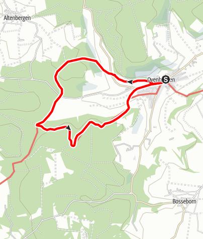 Karte / Ovenhausen Wanderweg V      (9,7 km)