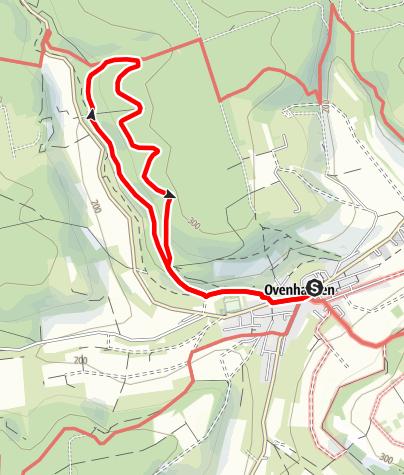 Karte / Ovenhausen Wanderweg VII B      (7,0 km)