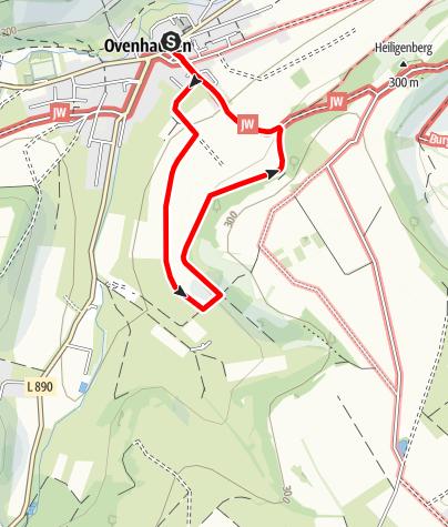 Karte / Ovenhausen Panoramaweg      (3,6 km)