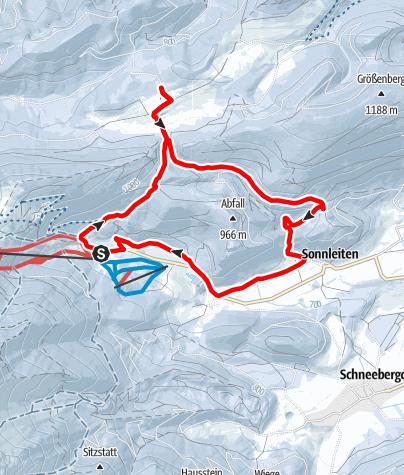 Mapa / Schneeschuhwanderung auf die Mamauwiese von Losenheim
